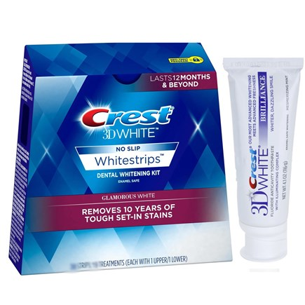 Crest 3D White Whitestrips Glamorous White + Паста
